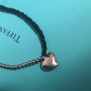 ⚫️ Tiffany & Co. Full Heart Pendant & Black Onyx
